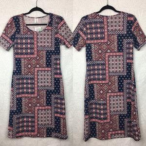 NWT HONEY & LACE Printed Textured Tshirt Dress